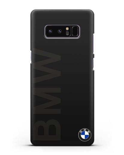 Чехол с надписью BMW и логотипом силикон черный для Samsung Galaxy Note 8 [N950F]