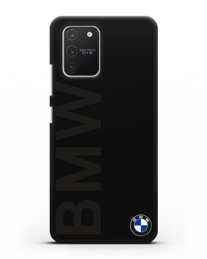 Чехол с надписью BMW и логотипом силикон черный для Samsung Galaxy S10 lite [SM-G770F]