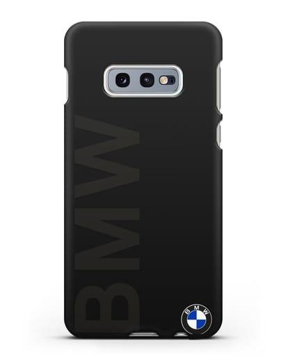 Чехол с надписью BMW и логотипом силикон черный для Samsung Galaxy S10e [SM-G970F]