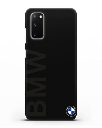 Чехол с надписью BMW и логотипом силикон черный для Samsung Galaxy S20 [SM-G980F]