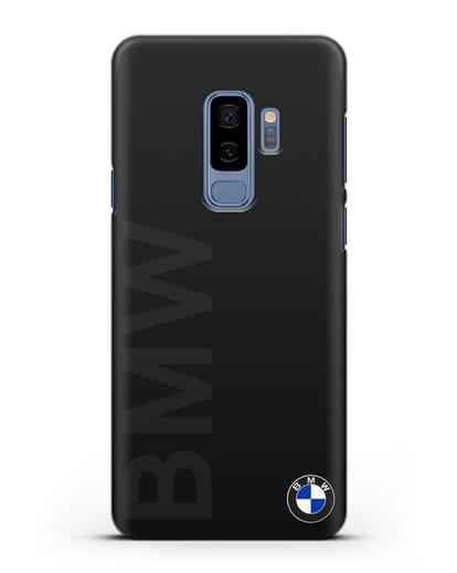 Чехол с надписью BMW и логотипом силикон черный для Samsung Galaxy S9 Plus [SM-G965F]
