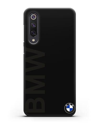 Чехол с надписью BMW и логотипом силикон черный для Xiaomi Mi 9 SE