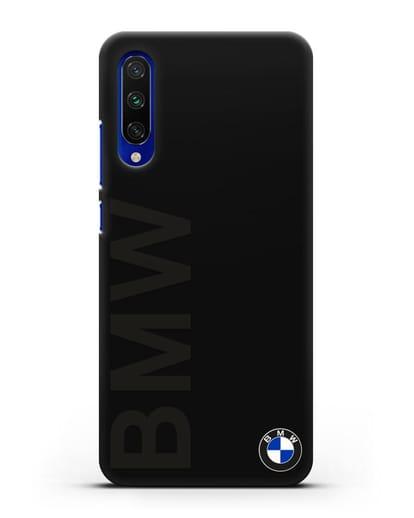 Чехол с надписью BMW и логотипом силикон черный для Xiaomi Mi A3