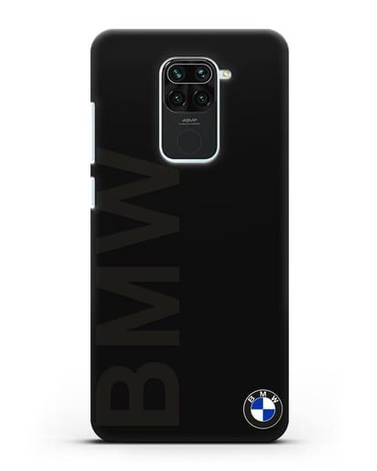Чехол с надписью BMW и логотипом силикон черный для Xiaomi Redmi 10X