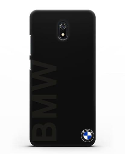 Чехол с надписью BMW и логотипом силикон черный для Xiaomi Redmi 8A