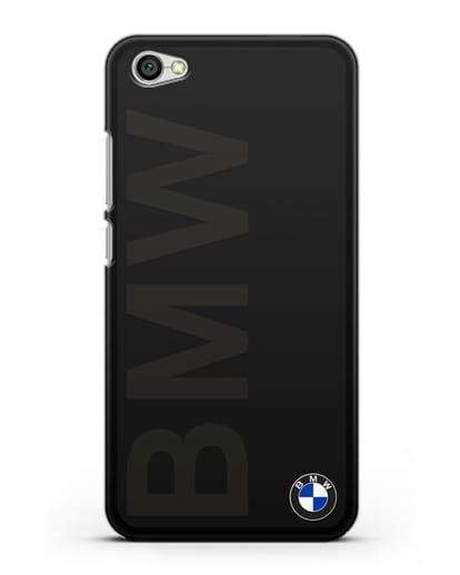 Чехол с надписью BMW и логотипом силикон черный для Xiaomi Redmi Note 5A
