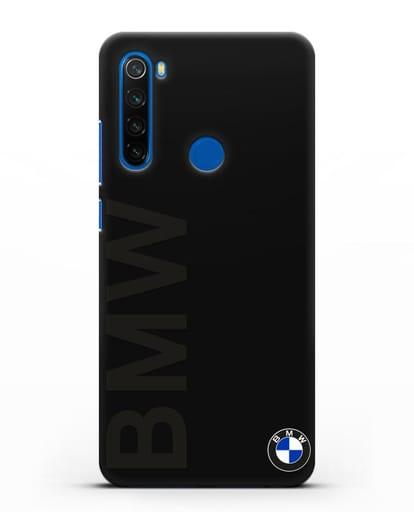 Чехол с надписью BMW и логотипом силикон черный для Xiaomi Redmi Note 8