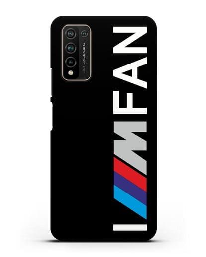 Чехол BMW M серии I am fan силикон черный для Honor 10X Lite