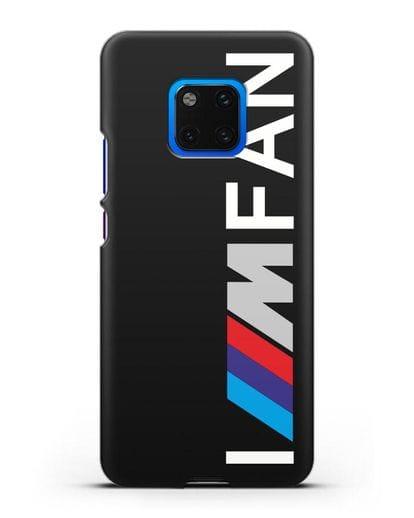 Чехол BMW M серии I am fan силикон черный для Huawei Mate 20 Pro