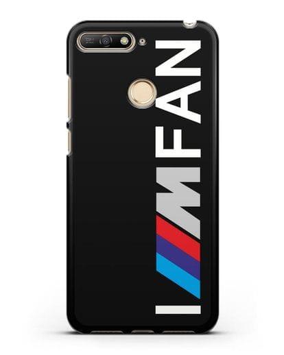 Чехол BMW M серии I am fan силикон черный для Huawei Y6 Prime 2018