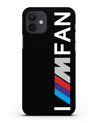 Чехол BMW M серии I am fan силикон черный для iPhone 12
