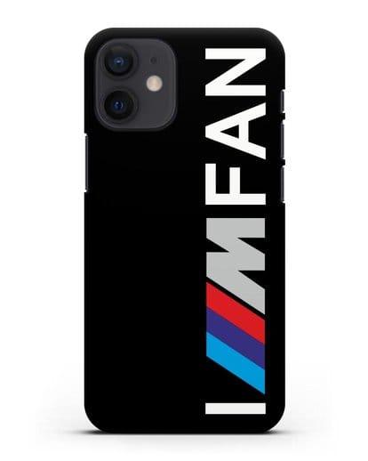 Чехол BMW M серии I am fan силикон черный для iPhone 12 mini