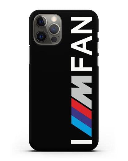 Чехол BMW M серии I am fan силикон черный для iPhone 12 Pro