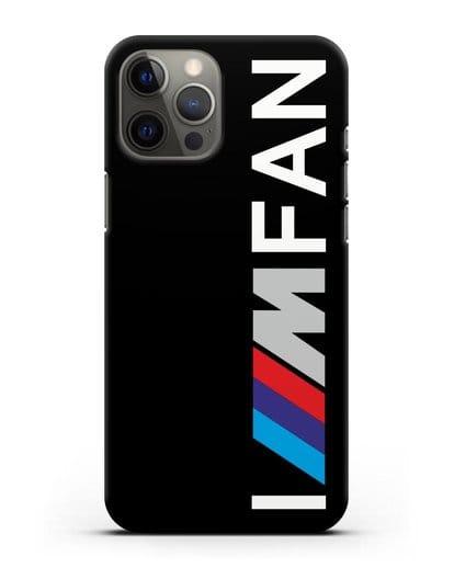 Чехол BMW M серии I am fan силикон черный для iPhone 12 Pro Max