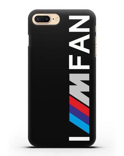 Чехол BMW M серии I am fan силикон черный для iPhone 7 Plus