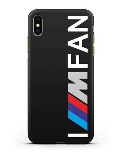 Чехол BMW M серии I am fan силикон черный для iPhone XS Max
