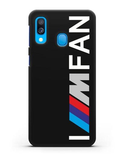 Чехол BMW M серии I am fan силикон черный для Samsung Galaxy A40 [SM-A405F]