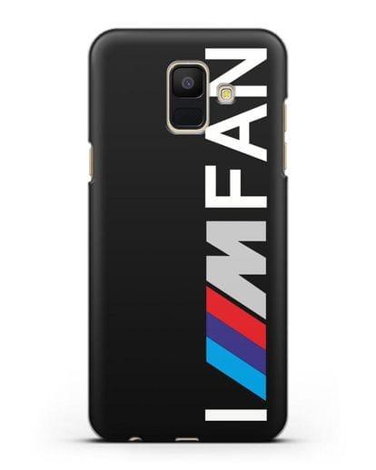 Чехол BMW M серии I am fan силикон черный для Samsung Galaxy A6 2018 [SM-A600F]