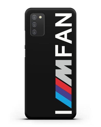 Чехол BMW M серии I am fan силикон черный для Samsung Galaxy A02s [SM-A025F]