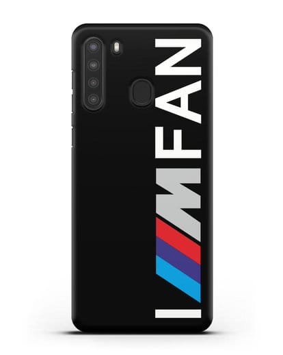 Чехол BMW M серии I am fan силикон черный для Samsung Galaxy A21 [SM-A215]