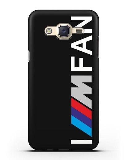 Чехол BMW M серии I am fan силикон черный для Samsung Galaxy J7 2015 [SM-J700H]