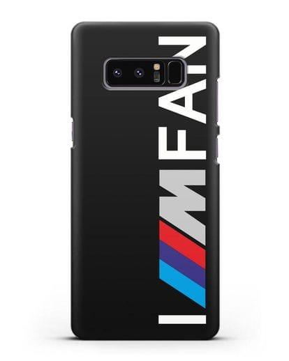Чехол BMW M серии I am fan силикон черный для Samsung Galaxy Note 8 [N950F]