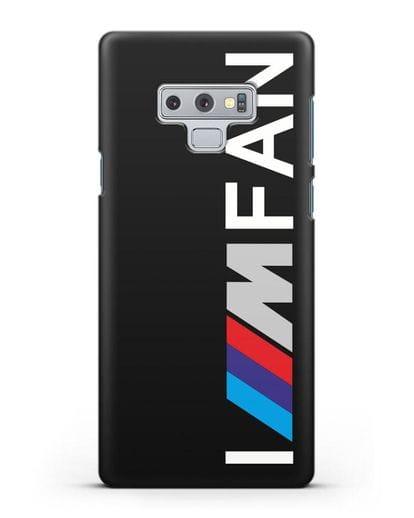 Чехол BMW M серии I am fan силикон черный для Samsung Galaxy Note 9 [N960F]