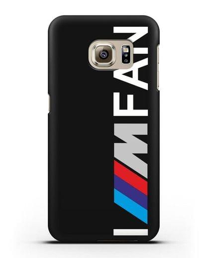 Чехол BMW M серии I am fan силикон черный для Samsung Galaxy S6 Edge [SM-G925F]