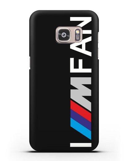 Чехол BMW M серии I am fan силикон черный для Samsung Galaxy S7 Edge [SM-G935F]