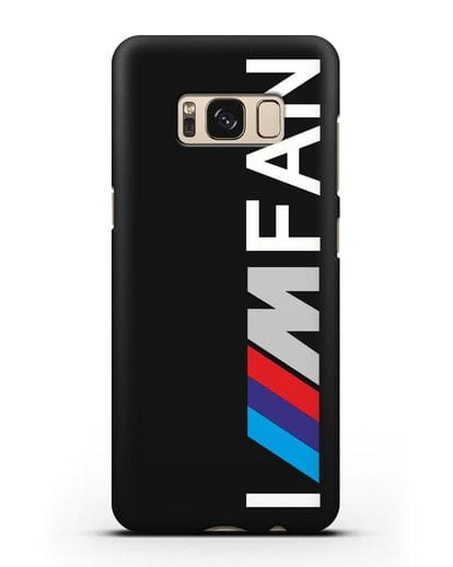Чехол BMW M серии I am fan силикон черный для Samsung Galaxy S8 [SM-950F]