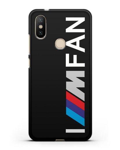 Чехол BMW M серии I am fan силикон черный для Xiaomi Mi A2
