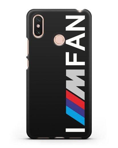 Чехол BMW M серии I am fan силикон черный для Xiaomi Mi Max 3