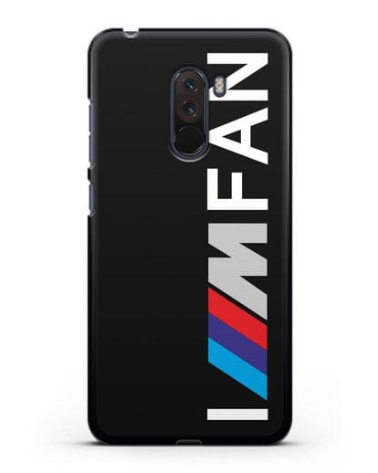 Чехол BMW M серии I am fan силикон черный для Xiaomi Pocophone F1