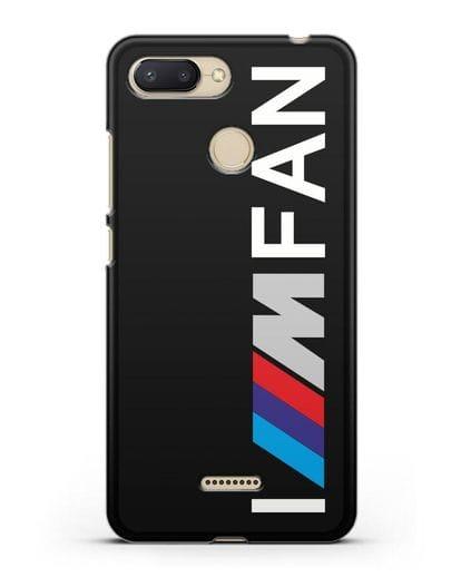 Чехол BMW M серии I am fan силикон черный для Xiaomi Redmi 6