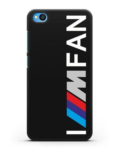 Чехол BMW M серии I am fan силикон черный для Xiaomi Redmi Go