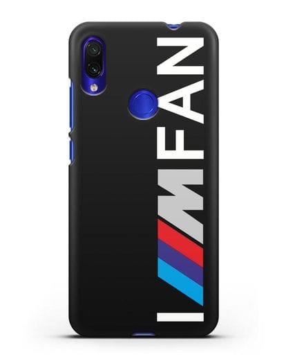 Чехол BMW M серии I am fan силикон черный для Xiaomi Redmi Note 7
