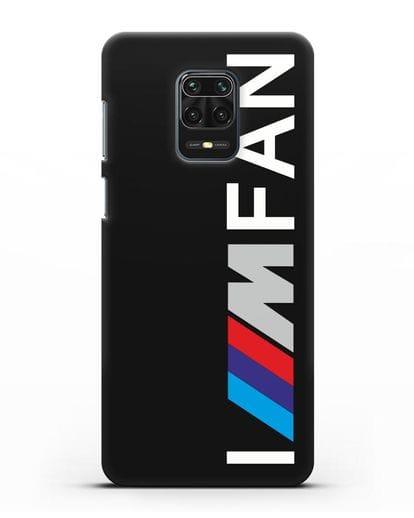 Чехол BMW M серии I am fan силикон черный для Xiaomi Redmi Note 9 Pro