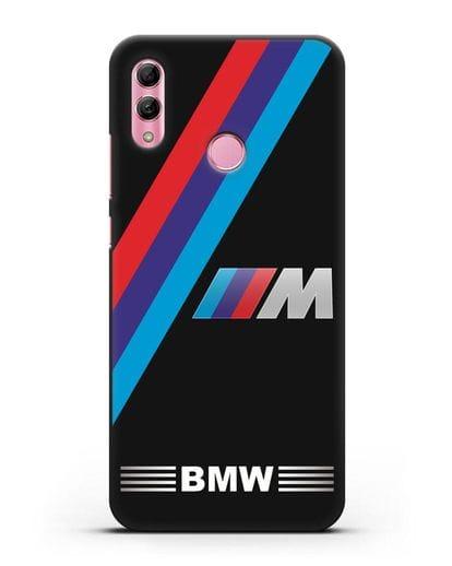 Чехол с логотипом BMW M Series силикон черный для Honor 10 Lite