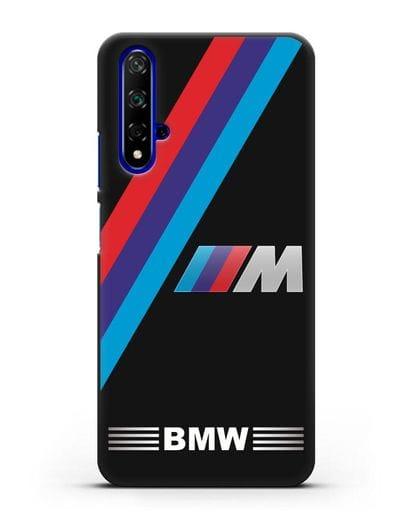 Чехол с логотипом BMW M Series силикон черный для Honor 20