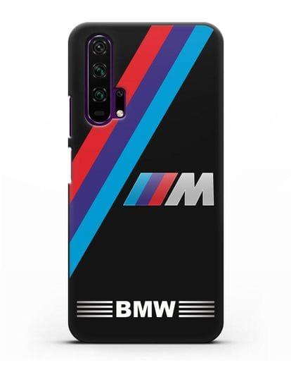Чехол с логотипом BMW M Series силикон черный для Honor 20 Pro