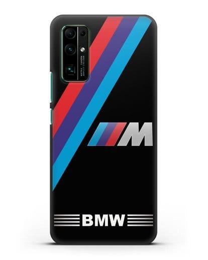 Чехол с логотипом BMW M Series силикон черный для Honor 30