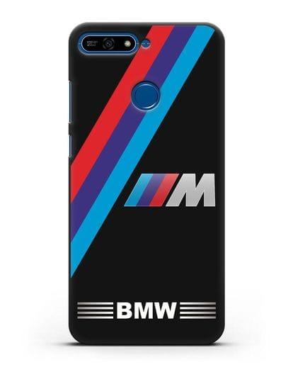 Чехол с логотипом BMW M Series силикон черный для Honor 7А Pro