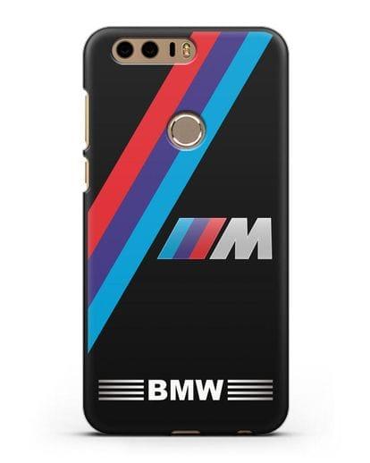 Чехол с логотипом BMW M Series силикон черный для Honor 8