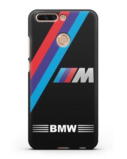 Чехол с логотипом BMW M Series силикон черный для Honor 8 Pro