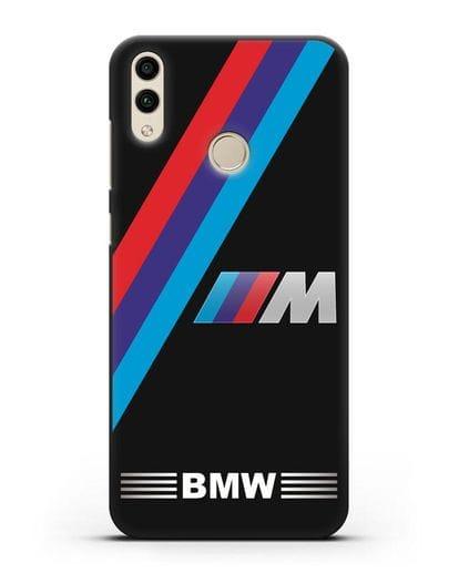 Чехол с логотипом BMW M Series силикон черный для Honor 8C
