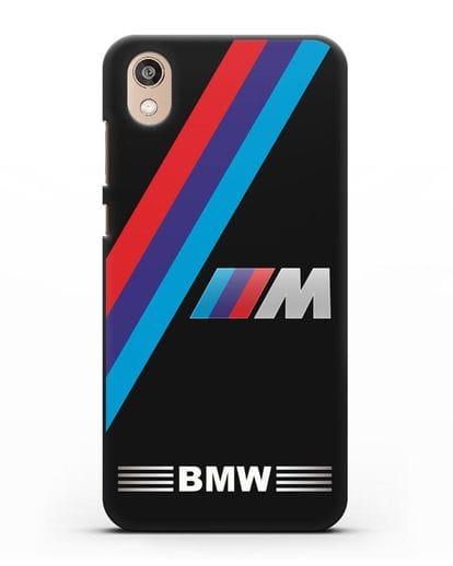 Чехол с логотипом BMW M Series силикон черный для Honor 8S