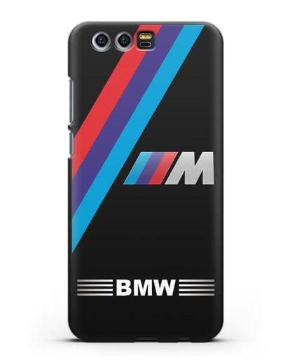Чехол с логотипом BMW M Series силикон черный для Honor 9