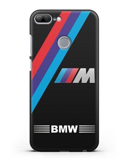 Чехол с логотипом BMW M Series силикон черный для Honor 9 Lite