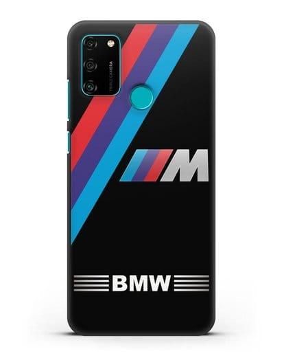 Чехол с логотипом BMW M Series силикон черный для Honor 9A