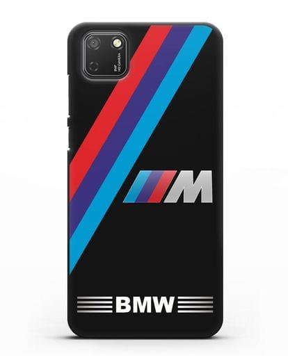 Чехол с логотипом BMW M Series силикон черный для Honor 9S